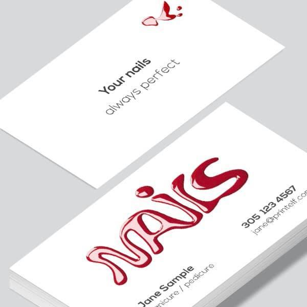 business card nail salon