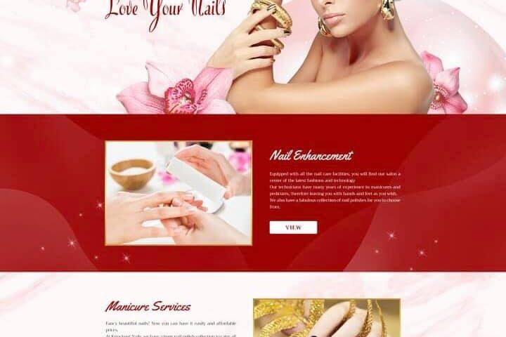 thiet ke website nail and spa 3