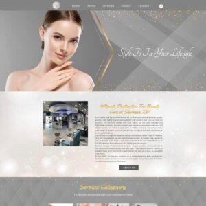 thiet ke website nail and spa 1