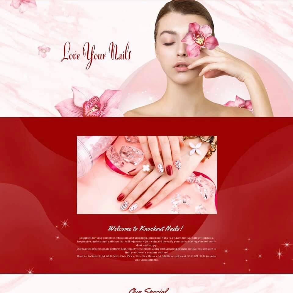 thiet ke website tiem nail and spa