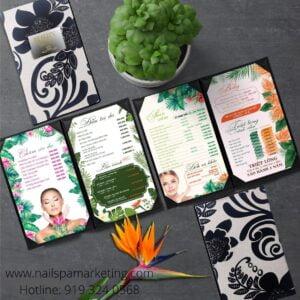 menu nail and spa