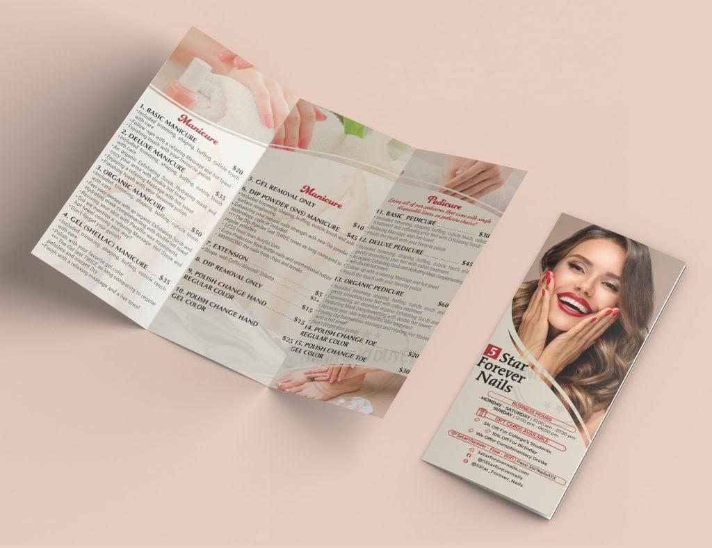 brochure nail salon