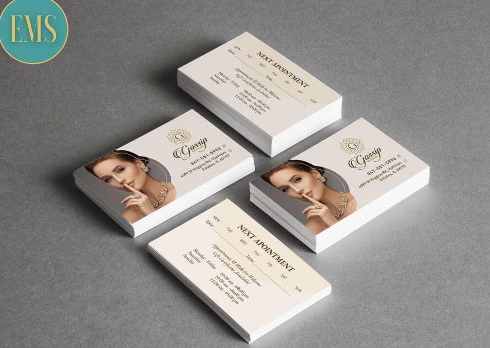 business card nail salon 1