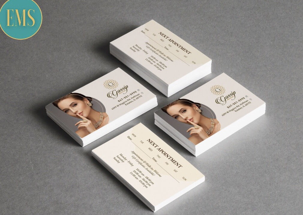 thiet ke business card nail salon