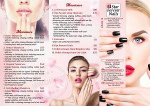 thiet ke brochure nail salon dep
